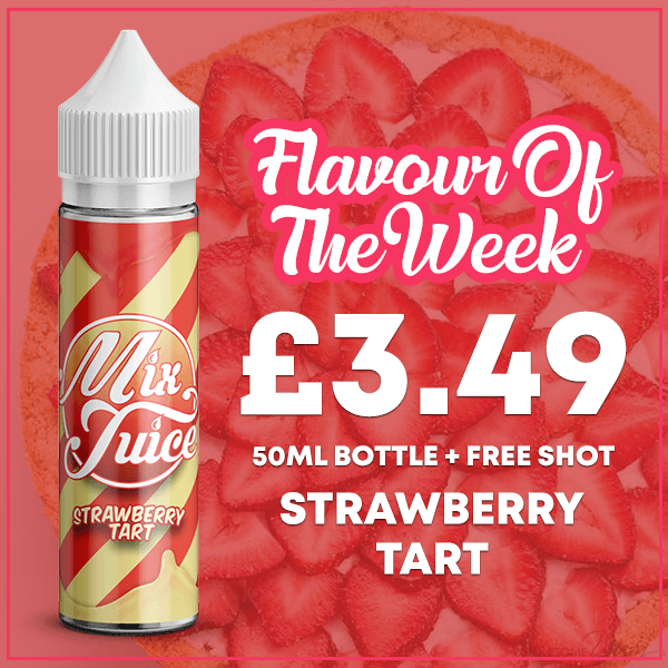 mix jucie flavour of the week strawberry tart 2020